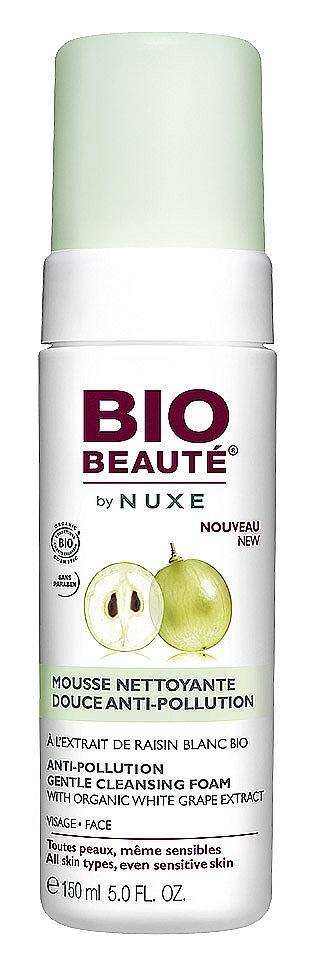 Пяна Anti-Pollution Gentle Cleansing Foam на Bio Beaute by NUXE. Интересно е, че във формулата няма сапун.