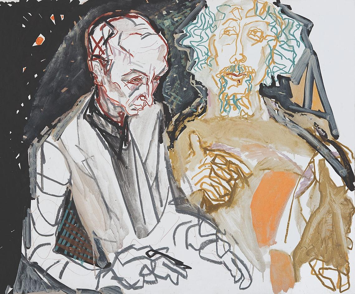 """До 25 януари в Софийската градска художествена галерия ще можете да разгледате изложбата """"Творби и размишления"""" на Атанас Пачев. Произведенията и текстовете, подбрани за тази изложба, представят Пацев като личност, разтърсвана от """"упойващи мечти"""" и драматични съмнения, чувствени радости и свръхболезнени преживявания. Няма друг български художник, който да съчетава с такъв самоубийствен диапазон на чувствата, щастието от безграничната вяра и ужаса от съзнаването на нейната утопичност. Най-значими постижения на Пацев са в портрета, но той има и доста интересни артистични композиции."""