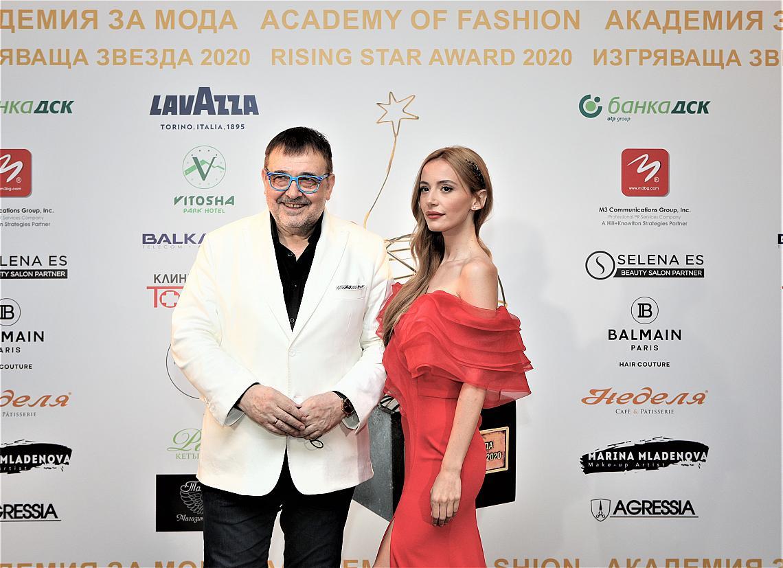 Проф. Любомир Стойков и водещата Марина Кискинова