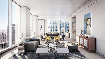 Апартаментът на Джордж и Амал Клуни в Ню Йорк