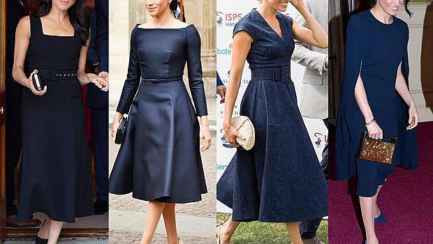 Защо Меган Маркъл носи черни рокли често?