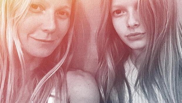 Гуинет Полтроу глези дъщеря си с козметични терапии