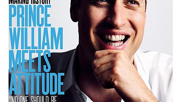 Принц Уилям се появи на корицата на гей списание