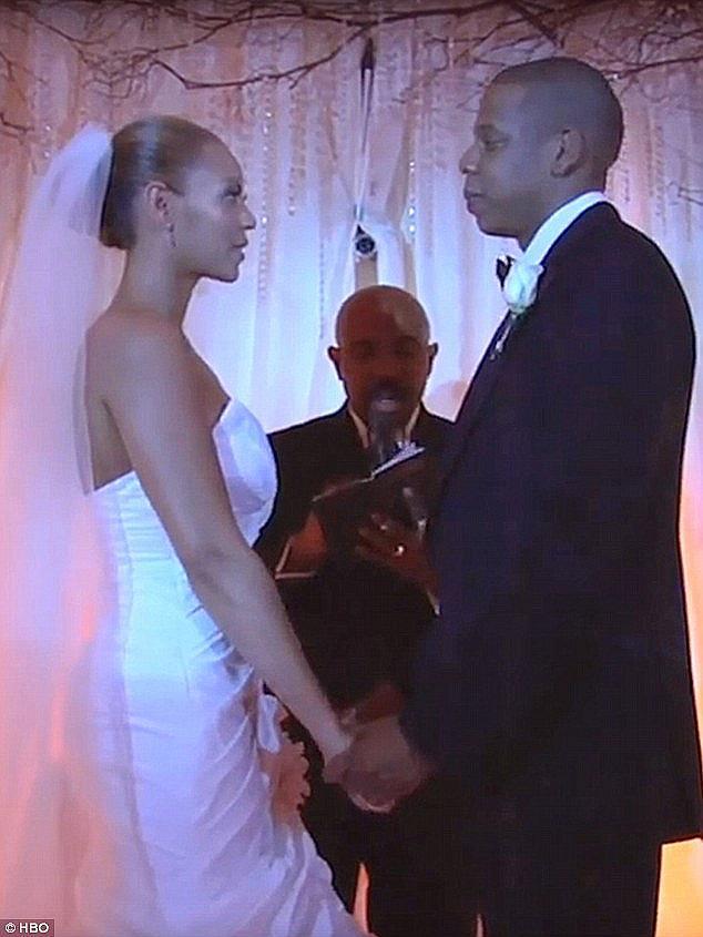 Бионсе на сватбата с Джей Зи