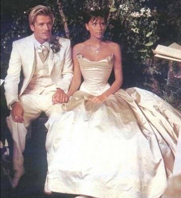Дейвид и Виктория на сватбения си ден
