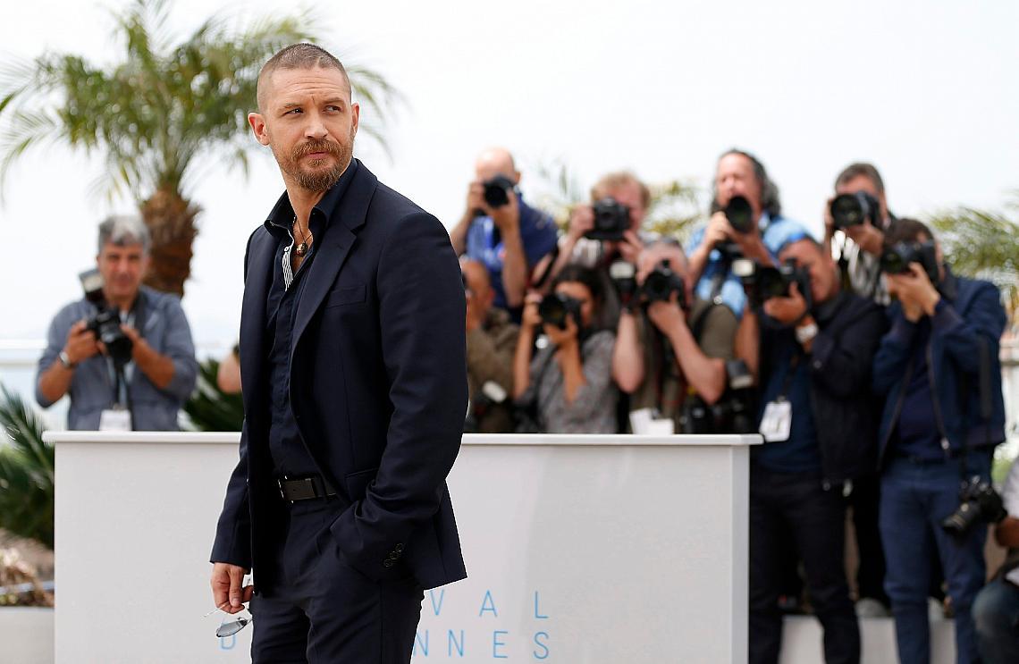 Том Харди на филмовия фестивал в Кан