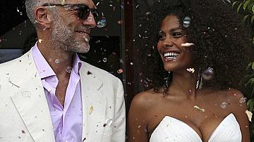 Сватбата на Венсан Касел и Тина Кунаки