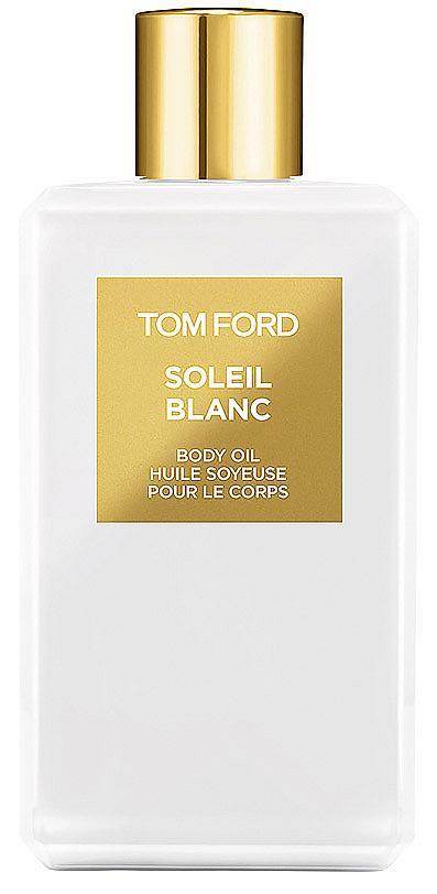 Копринено и леко олио за тяло от Soleil Blanc Collection на TOM FORD, което подхранва и ревитализира