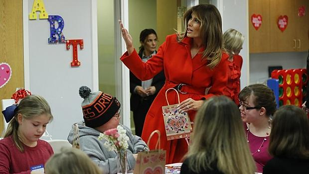 Мелания празнува Св. Валентин без Доналд Тръмп