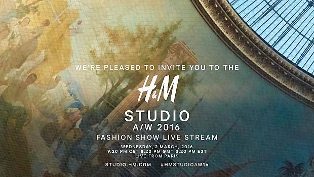 Livestream-видео: H&M Studio Есен/Зима 2016 директно от Париж