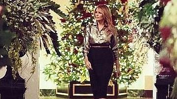 Просто ослепителна: Последната Коледа на Мелания Тръмп