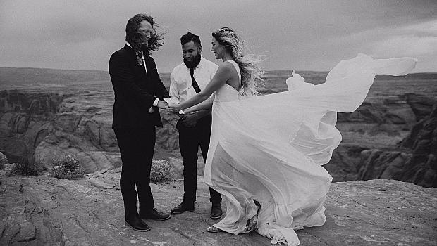 Сватба в каньона Horseshoe Bend