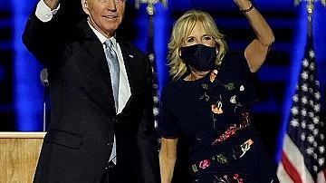 С чия рокля беше Джил Байдън по време на изборната победа на съпруга си?