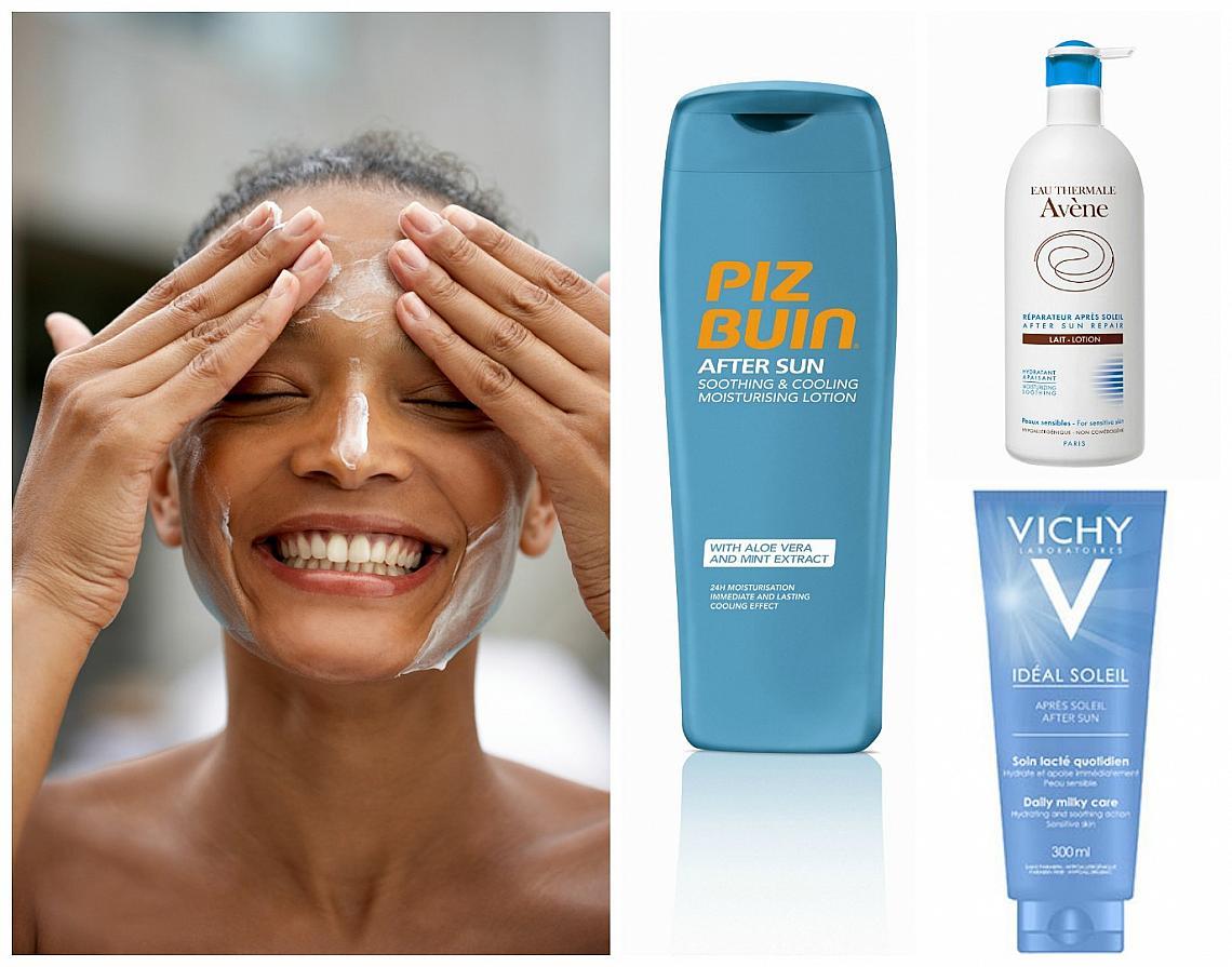 Най-добрите продукти за грижа за кожата след слънце