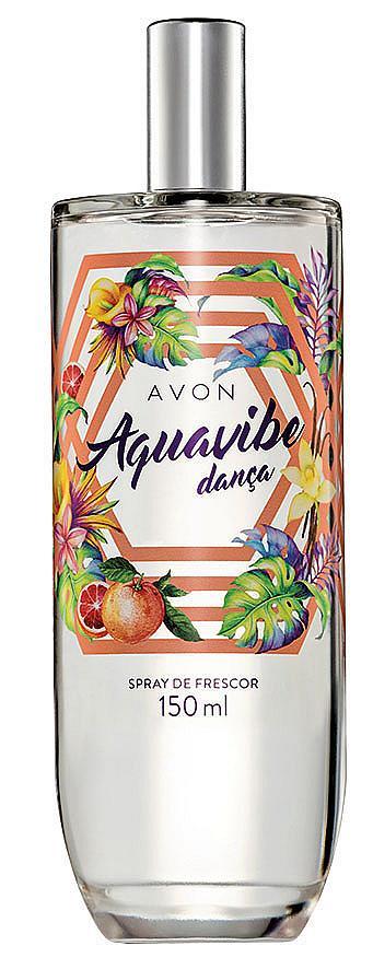 Аромат: Aquavibe Laugh More на AVON с нотки мандарина, момина сълза и кехлибарена база.