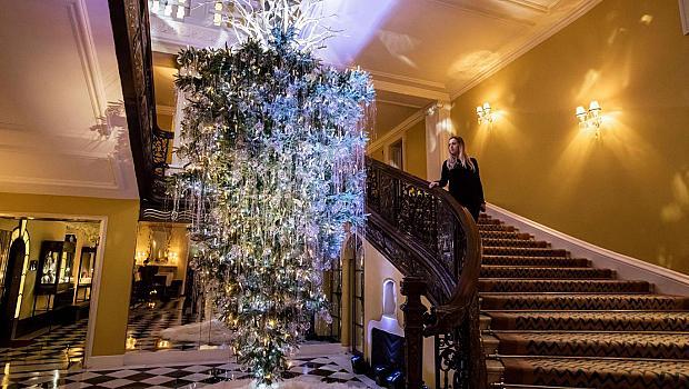 Кой дизайнер украси коледната елха в Кларидж?