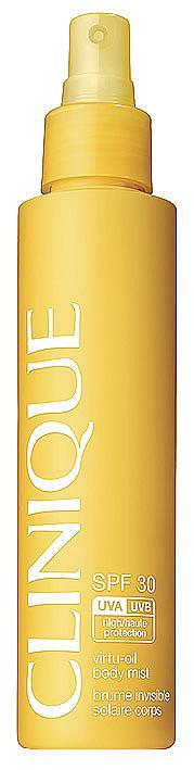 Сухо олио за тяло CLINIQUE SPF30 Virtu-Oil Body Mist с охлаждащо действие. 64лв.