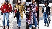 20 street style вдъхновения с деним за зимата