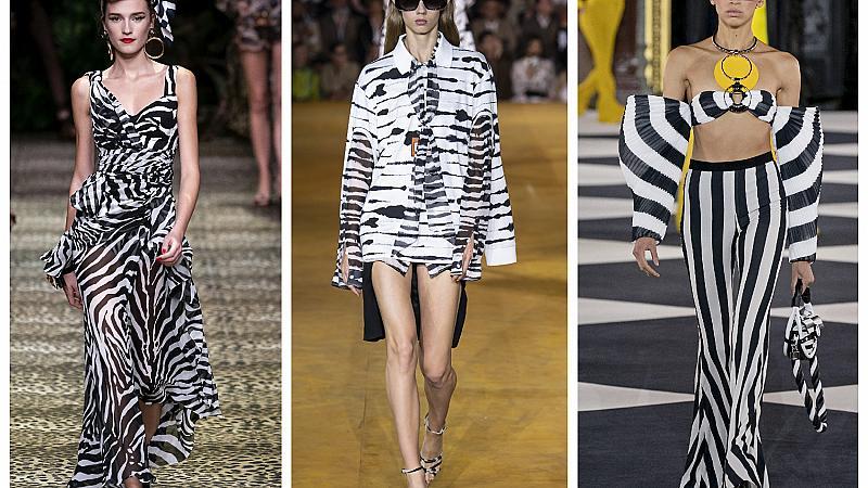 Зебра десенът завладя модния подиум с елегантността си