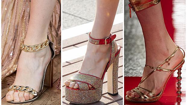 Златните обувки на висок ток, с които ще се чувствате като кралица