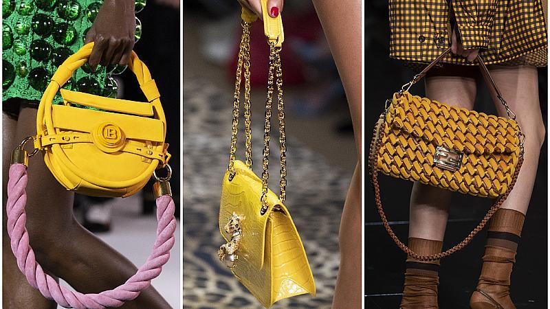 За повече настроение грабваме жълтата чанта: 30 елегантни модела от подиума