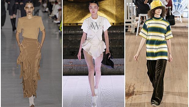 15 вдъхновяващи визии от подиума: Как да носим любимата тениска?