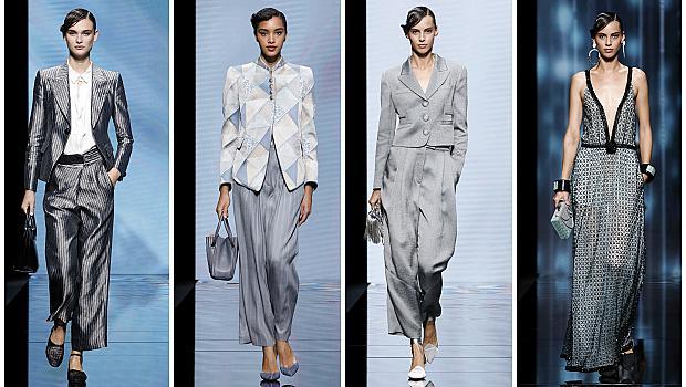 Колекцията на Джорджо Армани придаде нови измерения на сивия цвят