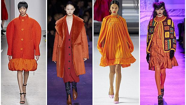 20 оранжеви тоалета от модния подиум, актуални за есента
