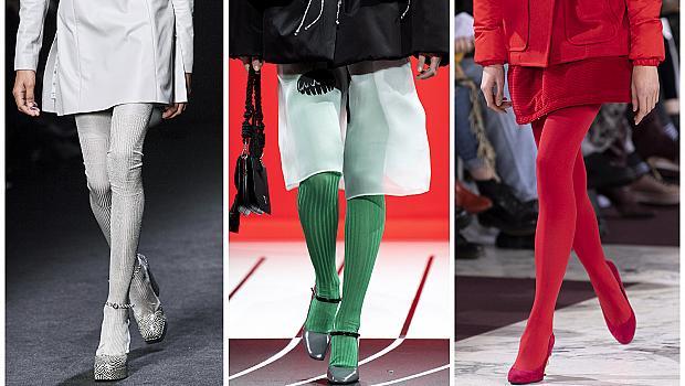Избираме цветен чорапогащник за повече настроение: 10 ефектни модела от подиума