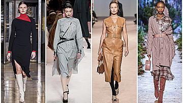 33 елегантни рокли за ежедневието: Дължина под коляното