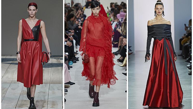 През месеца на любовта се обличаме в червено: 10 страстни визии от подиума