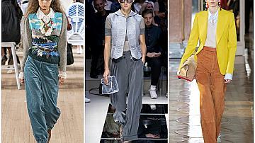 22 визии с широк панталон, вдъхновени от домашната ни карантина