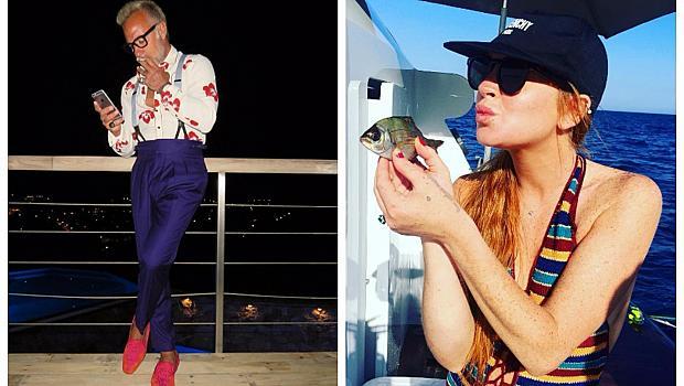 """Линдзи Лоън и """"Танцуващият"""" милионер се срещнаха на парти в Италия"""