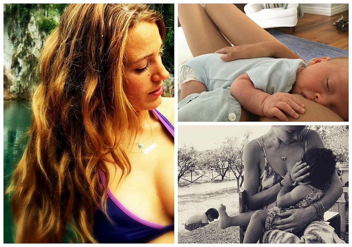 Звездите смело споделят моментите на майчинство в Instagram