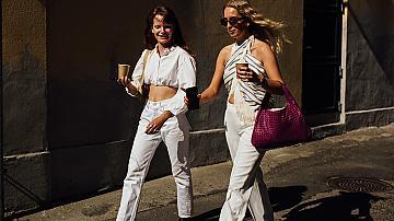 Street style с бял панталон: Тренди решение за ежедневието