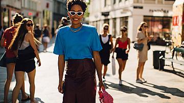 Street style с топ и пола: 20 елегантни съчетания от модните столици