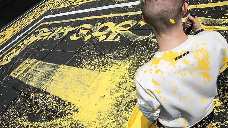 Най-голямото графити в Италия е на FENDI