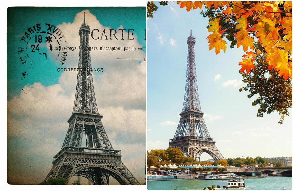 Айфеловата кула преди и сега