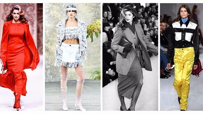 От модния подиум: Кая Бергер и Синди Крауфорд