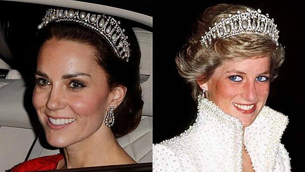 Кейт Мидълтън е отново с любимата тиара на принцеса Даяна