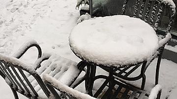Януарска снежна събота в София