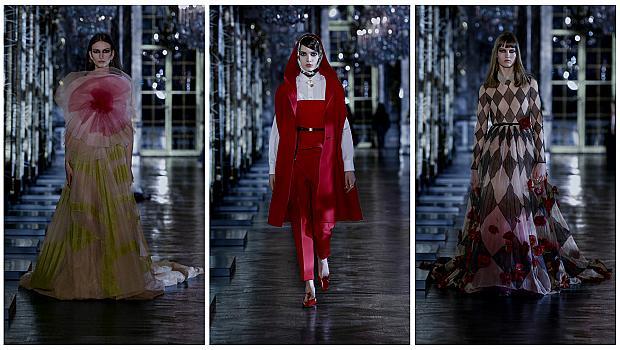Огледалното модно шоу на Dior черпи вдъхновение от приказките