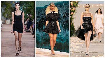 За женствена секси визия избираме малка черна рокля: 20 стилни модела от подиума