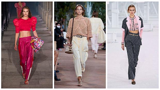 14 съвета от модния подиум за това как да носите широки панталони