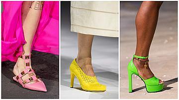 Избираме обувки в неонов нюанс за свежа лятна визия