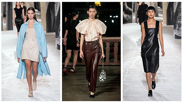 Триумфът на кожата: 26 стайлинг комбинации от модния подиум