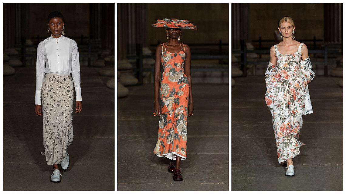 Всички визии на Erdem от модното ревю в Лондон: Завръщане в миналото