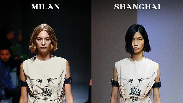 Модното дефиле на Prada се проведе едновременно в Милано и Шанхай