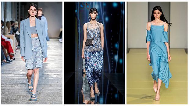 С любов към морето: 21 дизайнерски тоалета от модния подиум в син цвят