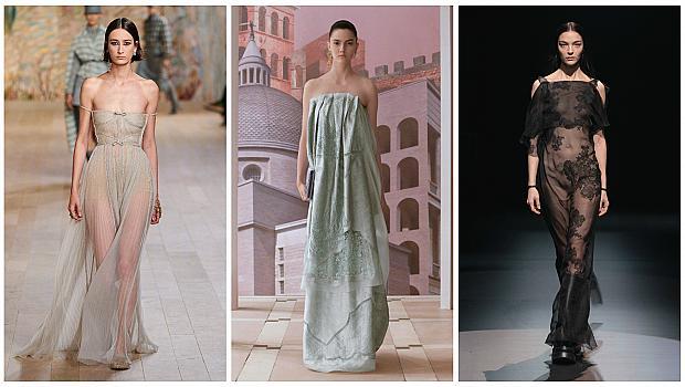 Избираме рокля с голи рамене за женствена и нежна визия